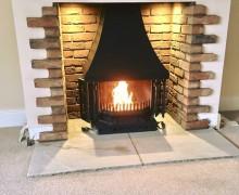 Dovre 1800 Fireplace open